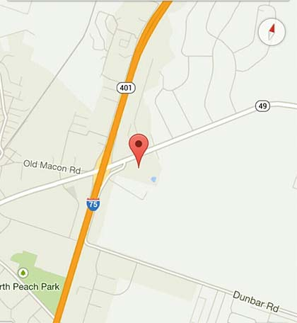 Byron GA Acres Near I Ocmulgee Fields Inc - Georgia map i 75